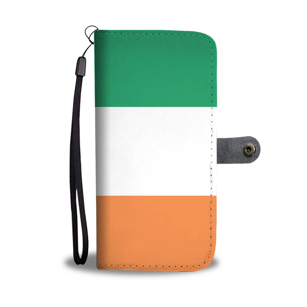 Personalized Irish Flag Phone Wallet Case