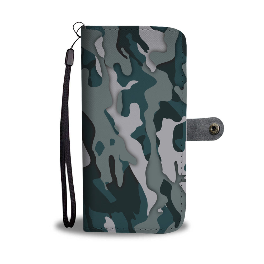Green Camo Phone Wallet Case
