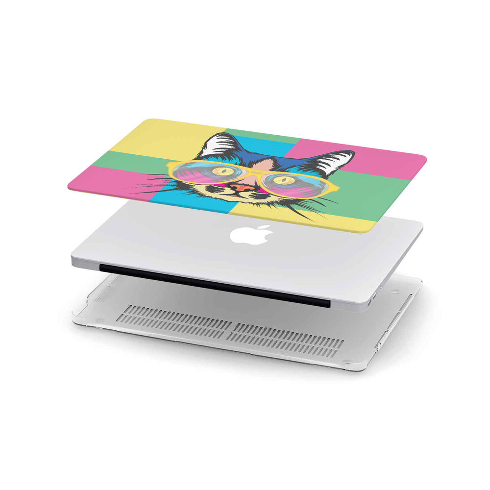 Load image into Gallery viewer, Macbook Hard Shell Case - Cat Pop Art