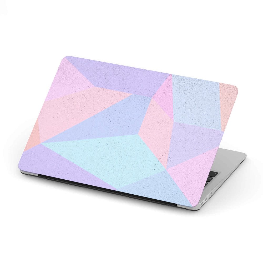 Personalized Macbook Hard Shell Case - Colorful Geometric Concrete