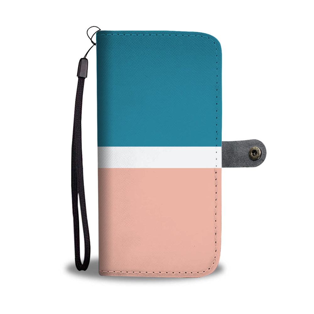 Personalized Coral & Blue Phone Wallet Case