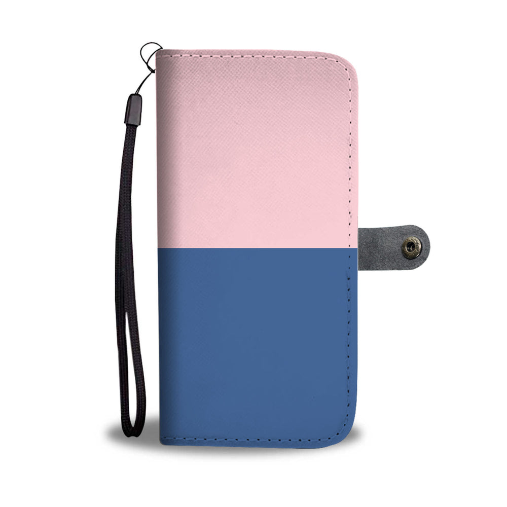 Personalized Blush Pink & Blue Phone Wallet Case
