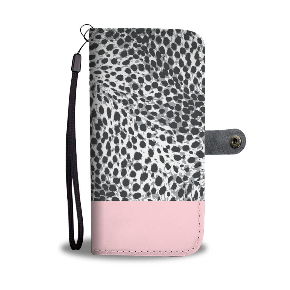 Load image into Gallery viewer, Personalized Blush Pink & Leopard Print Phone Wallet Case