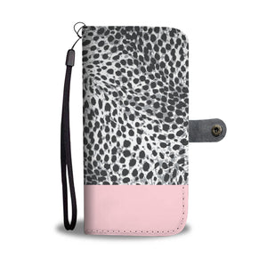 Personalized Blush Pink & Leopard Print Phone Wallet Case