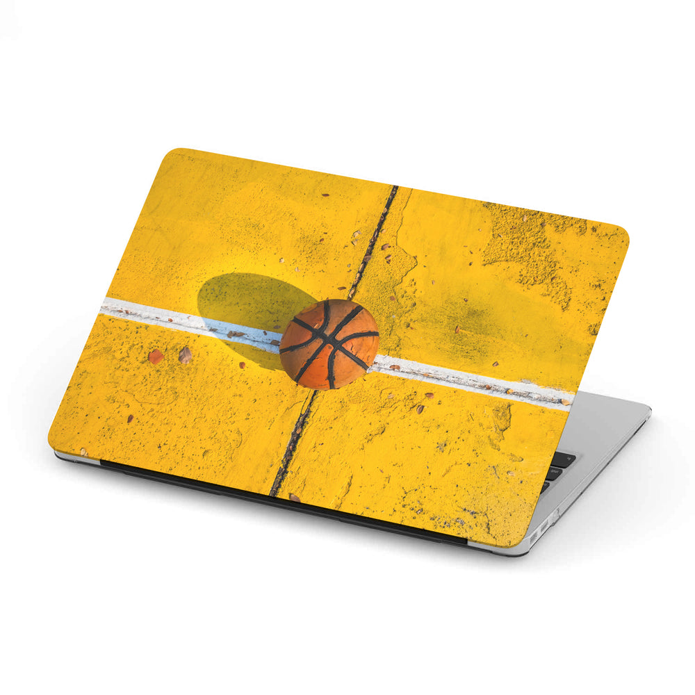 Personalized Macbook Hard Shell Case - Basketball on Court