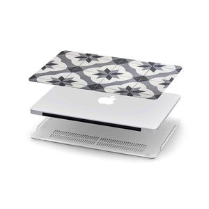Load image into Gallery viewer, Macbook Hard Shell Case - Black & White Mosaic Tiles