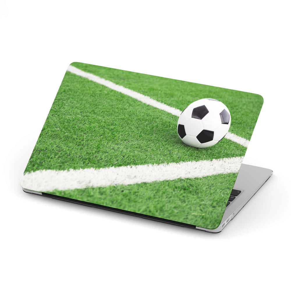 Personalized Macbook Hard Shell Case - Soccer Ball / Football