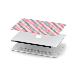 Personalized Macbook Hard Shell Case - Watermelon Check Plaid