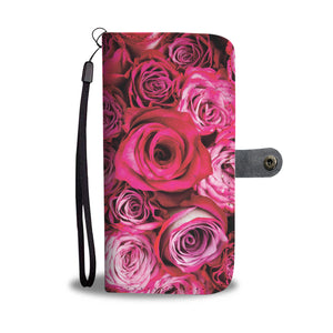 Load image into Gallery viewer, Red Rose Passion Phone Wallet Case