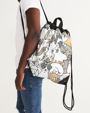 Pooch Family Canvas Drawstring Bag