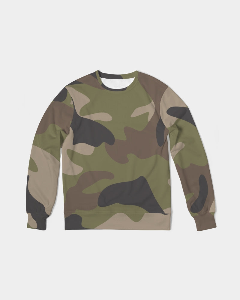 Woodland Camo Men's Classic French Terry Crewneck Pullover