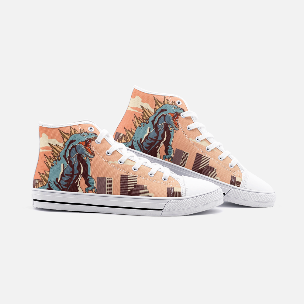 Godzilla High Top Canvas Shoes