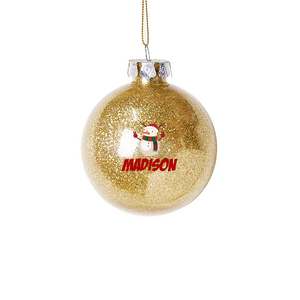 Personalized Christmas Baubles - Gold Snowman