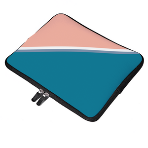 Load image into Gallery viewer, Personalized Laptop Sleeve - Blue & Coral Ash