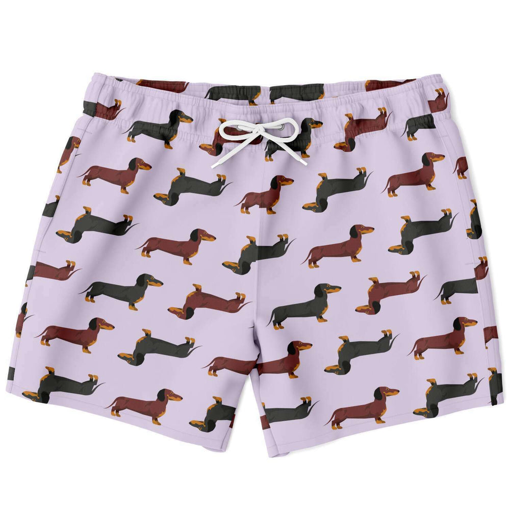 Dachshund Lovers Swim Shorts in Mauve