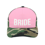 Bride Cap in Hot Pink & Camo