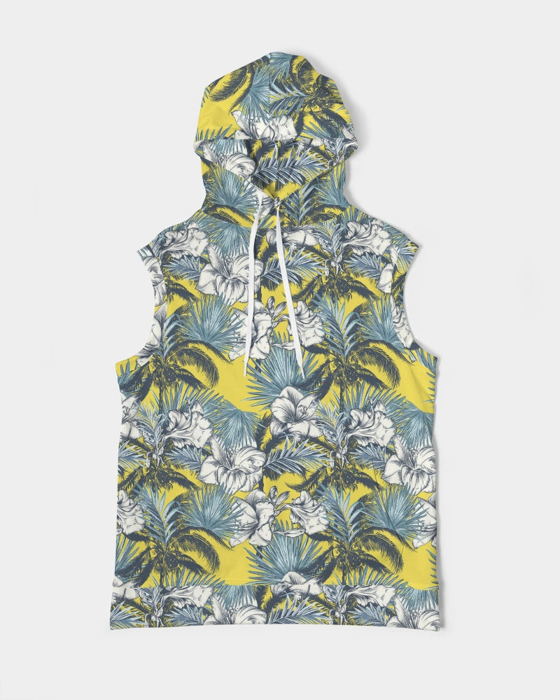 Load image into Gallery viewer, Yellow Tropics Men's Premium Heavyweight Sleeveless Hoodie