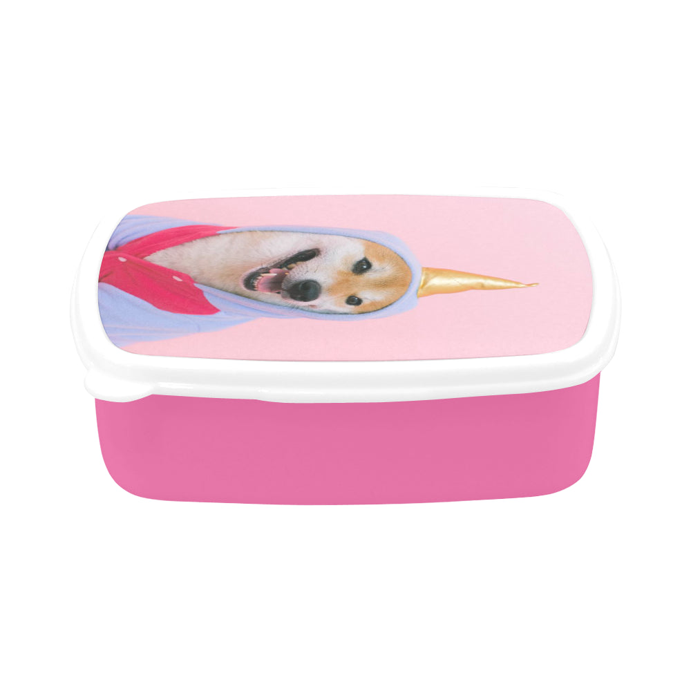 Lunch box with Custom Photo in Pink