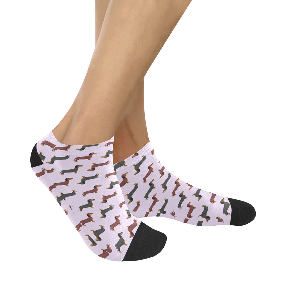 Dachshund Lovers Womens Anklet Socks (4 Colors)