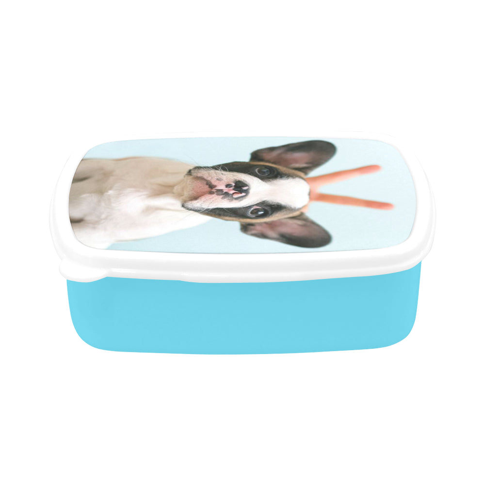 Lunch Box with Custom Photo - Blue