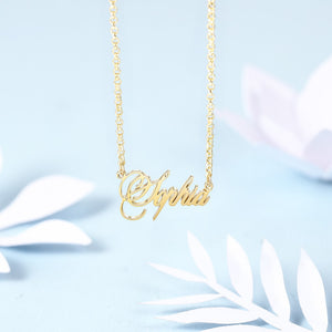 Personalized Name Necklace in Silver, Gold and Rose Gold