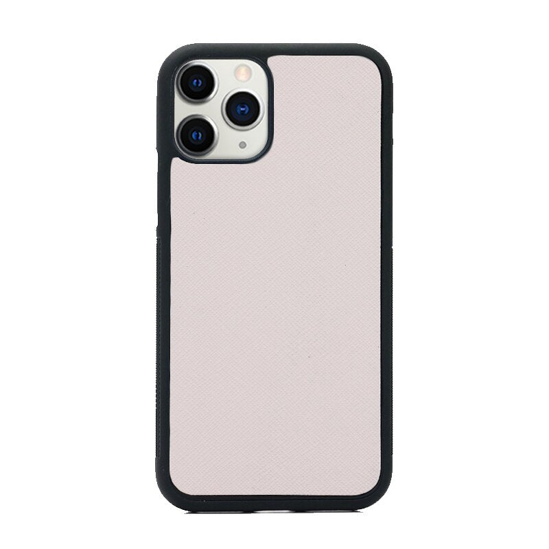 Soft Pink Saffiano Leather Phone Case for Samsung & iPhone