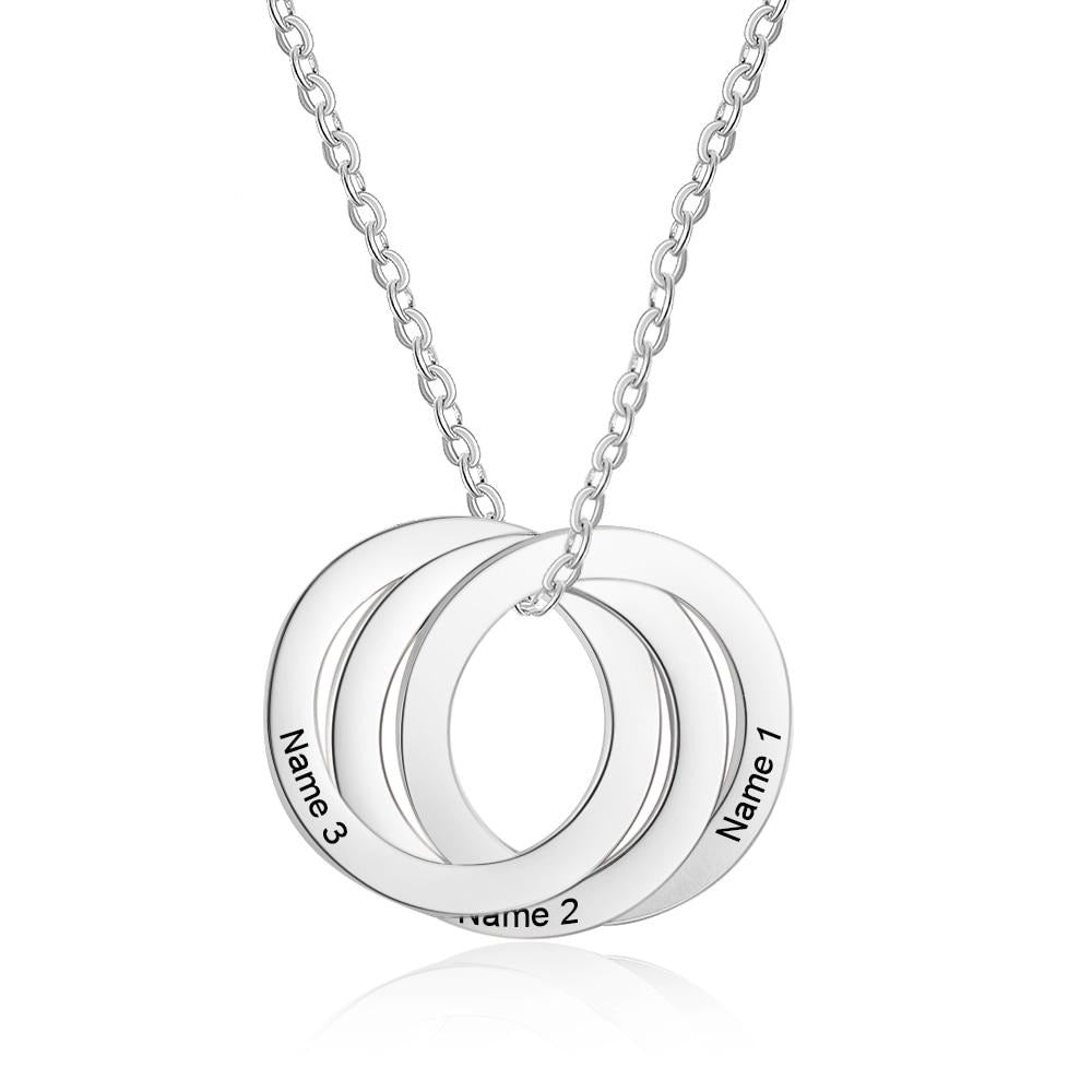 Personalized 3 Circle Pendant Necklace