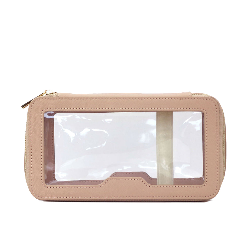 Monogrammed Toiletry Bag in Nude