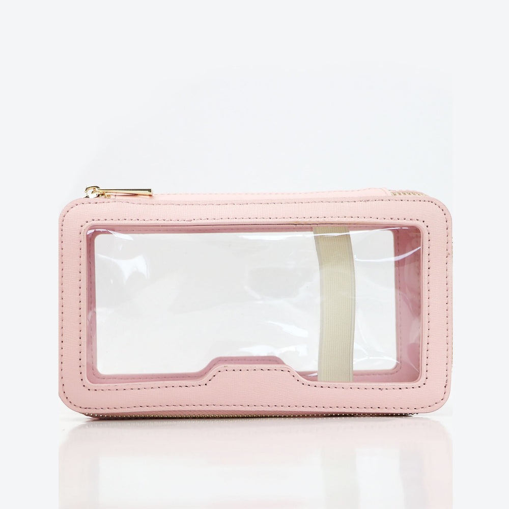 Monogrammed Toiletry Bag in Blush Pink