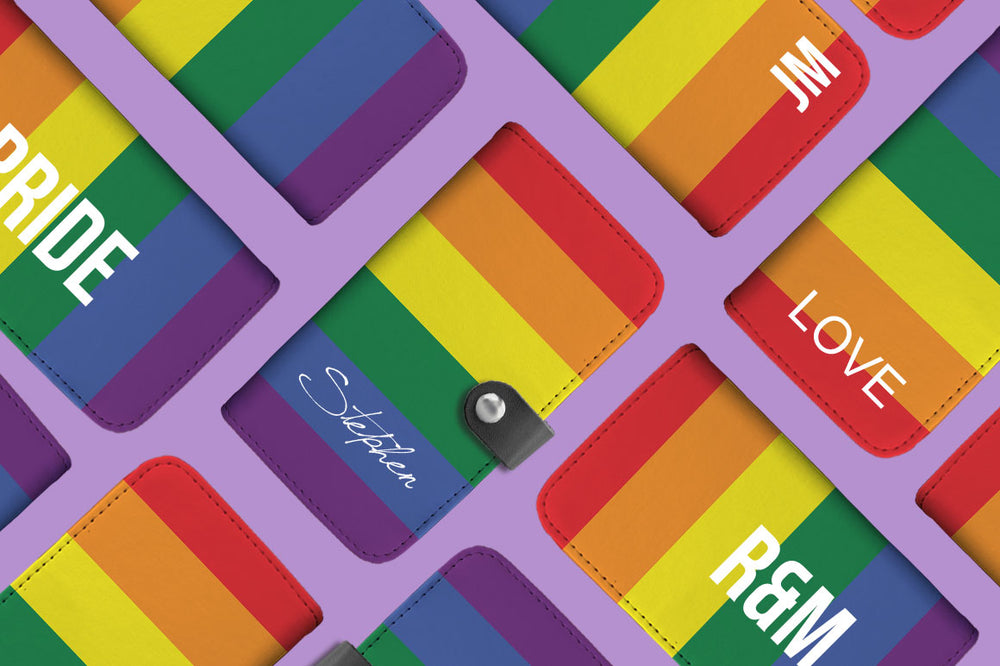 Personalized LGBT Flag Phone Wallet Case