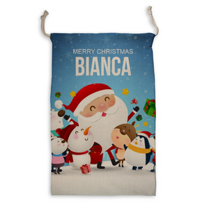 Load image into Gallery viewer, Personalized Santa Sack - Custom Christmas Sack