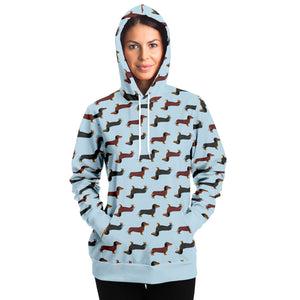 Dachshund Lovers Unisex Hoodie in Blue
