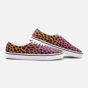 Load image into Gallery viewer, Vivid Cheetah Low Cut Canvas Shoes