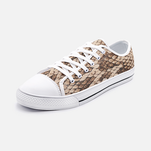 Snake Skin Unisex Low Top Canvas Shoes