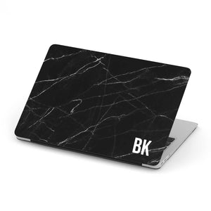 Load image into Gallery viewer, Personalized Macbook Hard Shell Case - Black Marble