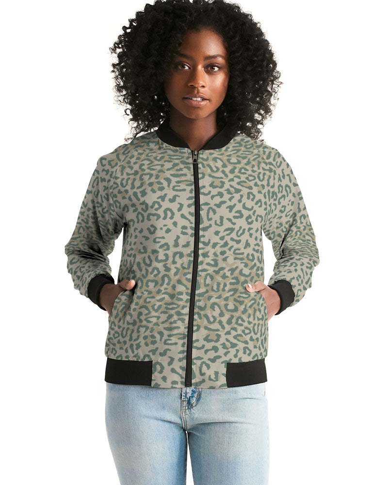 Load image into Gallery viewer, Soldier Camo Women's Bomber Jacket