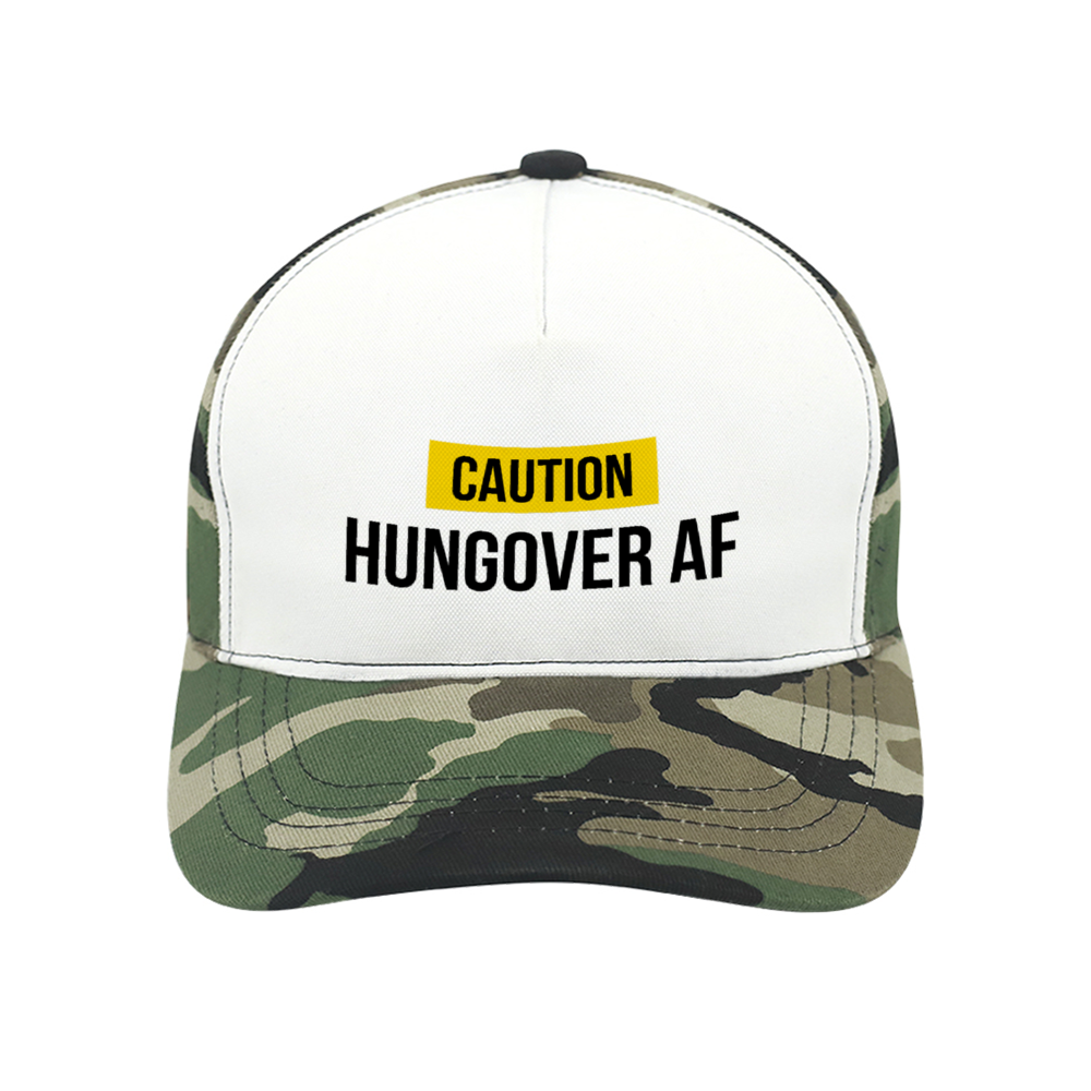 Hungover AF Cap in Camo
