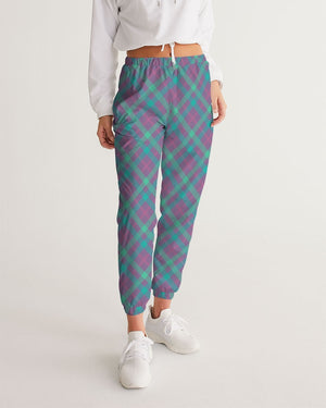 Purple & Green Tartan Women's Track Pants