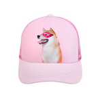 Custom Photo Mesh Cap - Pink