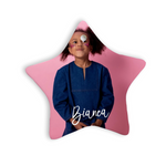 Custom Photo Christmas Ornaments with Personalized Name - Star Shape