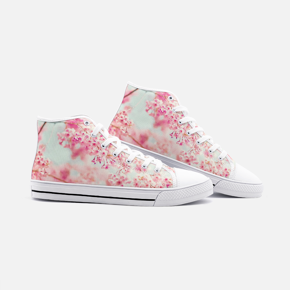 Cherry Blossom High Top Canvas Shoes