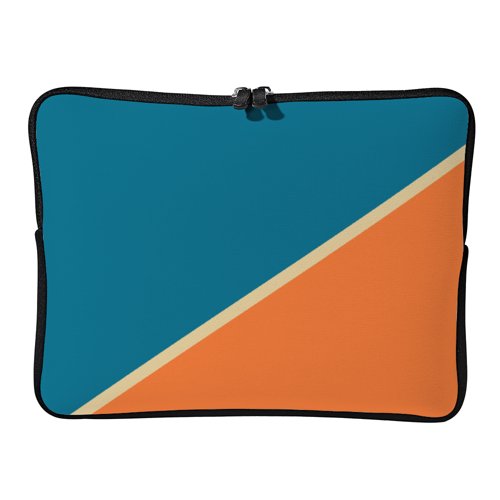 Personalized Laptop Sleeve - Blue & Orange