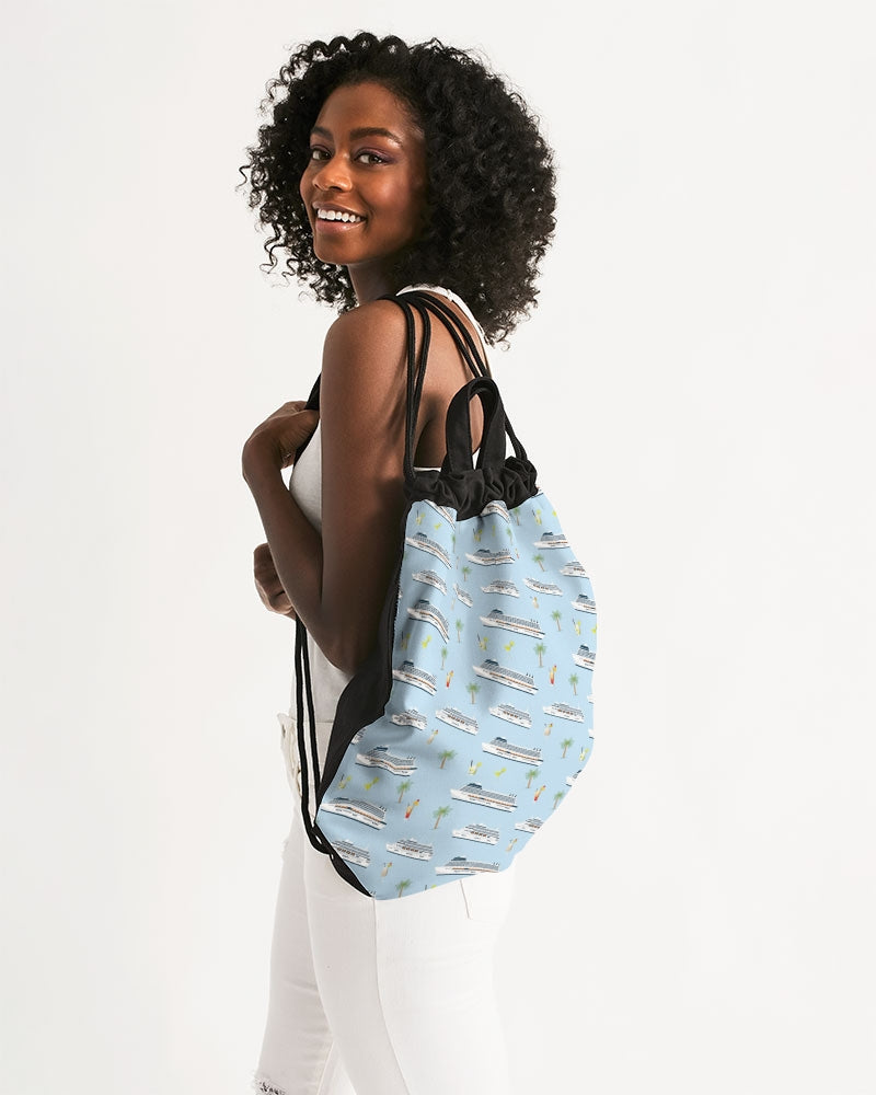 Cruise Lover's Canvas Drawstring Bag