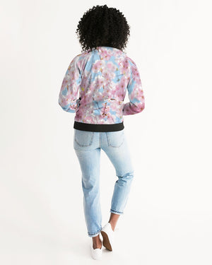 Cherry Blossom Sky Women's Bomber Jacket