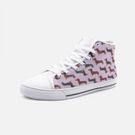 Dachshund Mauve High Top Unisex Canvas Shoes