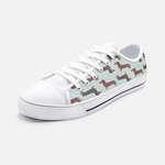 Dachshund Mint Green Low Top Unisex Canvas Sneakers