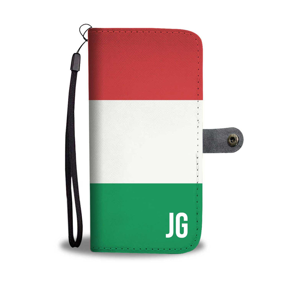 Load image into Gallery viewer, Personalized Italy Flag Phone Wallet Case