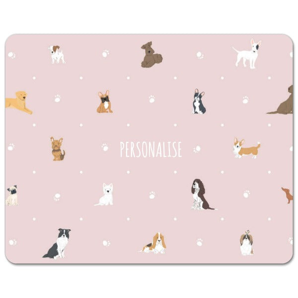 Personalised Dog Pattern Mouse Mat