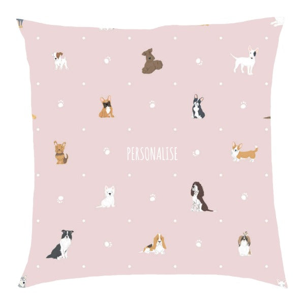 Personalised Dog Pattern Cushion