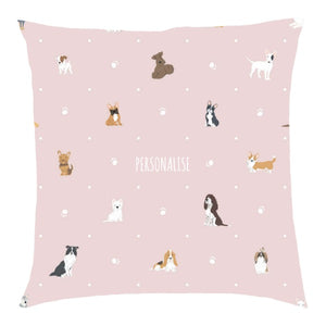 Load image into Gallery viewer, Personalised Dog Pattern Cushion